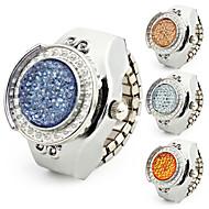 abordables Relojes Anillo-Mujer Cuarzo Banda Plata - Azul Oscuro Amarillo Azul