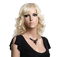 abordables Pelucas y Extensiones-Mujer Pelucas sintéticas Ondulado negro peluca Pelucas para Disfraz