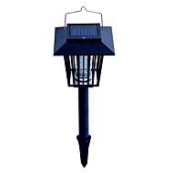 preiswerte LED Solarleuchten-1W Gartenleuchte LED-Perlen Wiederaufladbar / Leicht zu installieren Blau