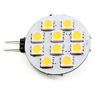 tanie Żarówki LED bi-pin-2700 lm G4 Żarówki punktowe LED 10 Diody lED SMD 5050 Ciepła biel DC 12V
