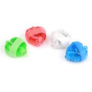 en forma de corazón lámparas láser dedos (4 piezas)
