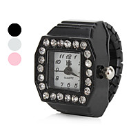 cheap Ring Watches-Women's Ring Watch Japanese Quartz Black / White / Pink Imitation Diamond Ladies Sparkle - White Black Pink One Year Battery Life / SSUO SR626SW
