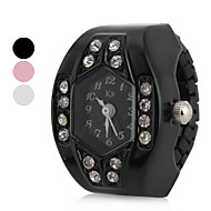 Women's Diamond Humanoid Style Alloy Analog Quartz Ring Watch (Assorted Colors) Cool Watches Unique Watches Fashion Watch