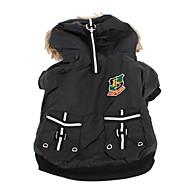 Psi Kaputi Hoodies Crn Odjeća za psa Zima Proljeće/Jesen Pismo i broj Moda