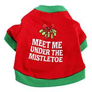 abordables Disfraces de Navidad para mascotas-Perro Camiseta Ropa para Perro Letra y Número Algodón Disfraz Para mascotas Hombre Mujer Vacaciones Navidad