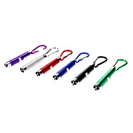Key Chain Flashlights lm 1 Mode - with Batteries Camping/Hiking/Caving Black Gray Purple Green Blue