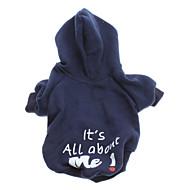 저렴한 -강아지 후드 강아지 의류 문자와 숫자 블루 면 코스츔 제품 모든계절 & 가을 겨울 남성용 여성용 패션