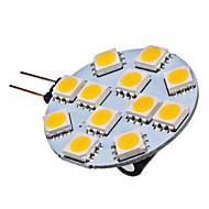 G4 Focos LED 12 SMD 5050 70 lm Blanco Cálido 2700K K DC 12 V