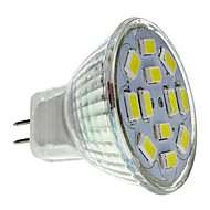 2w gu4 (mr11) led spotlight mr11 12 smd 5730 240-260lm naturlig hvid 6000k dc 12v 1pc