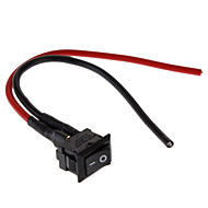 abordables Interruptores & Enchufe-DIY Rocker Switch con 2 cables (250V/6A 3A 125V)