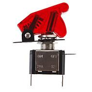 DIY Rød LED Illuminated Toggle On / Off Switch til bil (12V 20A)