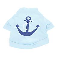 halpa -Koira T-paita Koiran vaatteet Merimies Sininen Puuvilla Asu Lemmikit Miesten Loma Muoti