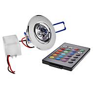 Mennyezeti izzók Süllyesztett 1 led Nagyteljesítményű LED 180lm RGB Távvezérlésű AC 85-265