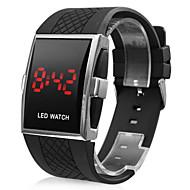 cheap Watch Deals-Men's Digital Wrist Watch Calendar / date / day LED Rubber Band Charm Black