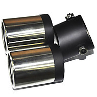 お買い得  エレクトロニクス・アクセサリー-自動車排気管のための普遍的なステンレス鋼のマフラー(63ミリメートル、内径)LMC-M-041