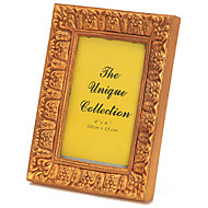 abordables Marcos y álbumes de fotos-patrón clásico de resina marco de fotos rectangular allen