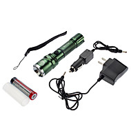 SmallSun 4 LED Lommelygter Lanterner & Telt Lamper LED 350 lm 4.0 Tilstand Cree XR-E Q5 Justerbart Fokus Genopladelig selvforsvar Vandtæt