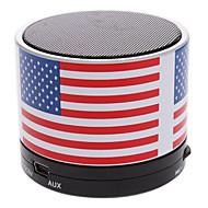 abordables Altavoz de Estantería-S10 La bandera de EE.UU. Mini Altavoz Bluetooth con TF puerto para el teléfono / el ordenador portátil / Tablet PC