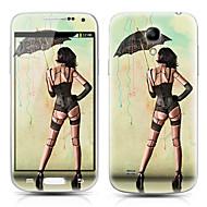 Sexy Chica Patrón Front y Back Protector Pegatinas para Samsung Galaxy S4 Mini I9190