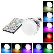 お買い得  LED ボール型電球-E26 / E27 LEDボール型電球 G60 1 LEDビーズ リモコン操作 RGB 85-265 V