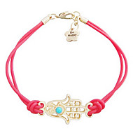 Z&X®  Hand woven hand of Fatima leather rope woven Bracelet