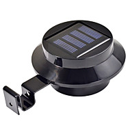 3-LED Solar Powered Gutter Door Fence Wall Light Outdoor Garden Lighting