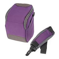 abordables Bolsas-B-01-PL Purple Crossbody un hombro bolso de la cámara para la cámara de DSLR