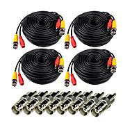 Cables 4Pcs 150ft Videosecu Video Power with BNC to RCA Adapter Connector for Security Systems 1000cm 0.75kg