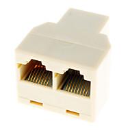 billige -RJ45 1 til 2 LAN netværkskabel Y Splitter Extender Plug