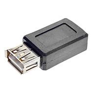 abordables Grandes Ofertas-USB una hembra al mini USB hembra convertidor adaptador Negro
