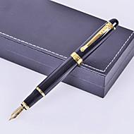 estilo de negocios premium regalo personalizado de metal negro grabado pluma de tinta