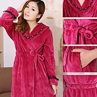tanie -Świeży styl Bath Robe,Stały Najwyższa jakość 100% Polyester Tkana Plain Ręcznik