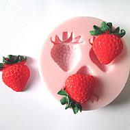 trzy otwory owoce truskawek zszywacze formy formy silikonowe formy czekoladowe fondant cukru do ciast