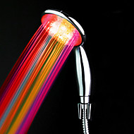 cheap Faucets-ABS Water Powered Color Changing LED Hand Shower High Quality