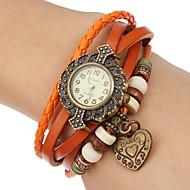 billiga Klockerbjudanden-Dam Quartz Armbandsklocka Heta Försäljning Band Bohemisk Svart Blå Röd Orange Brun Grön