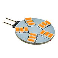 3W G4 LED szpotlámpák 15 SMD 5630 180-320 lm Meleg fehér DC 12 V