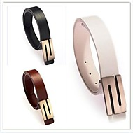 cheap Belts-Unisex Party / Work Leather / Alloy Waist Belt - Solid Colored