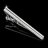 abordables Accesorios de Moda Personalizados-patrón de bandas de metal de plata de los hombres de regalo personalizado grabado el clip de lazo (a menos de 10 caracteres)