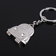 Gepersonaliseerde Gegraveerde Gift Car vormige sleutelhanger met Rhinestone
