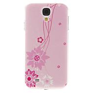 Для Кейс для  Samsung Galaxy С узором Кейс для Задняя крышка Кейс для Цветы PC Samsung S4
