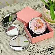 abordables Novedades Personalizadas-Personalizada Estilo Floral Gift Pink Chrome Espejo compacto