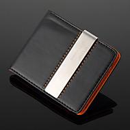 personalizado de metal de plata de regalo y cuero de la PU de metal clip de dinero (a menos de 10 caracteres)