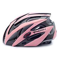 お買い得  -MOON 大人 バイクヘルメット 25 通気孔 CE 耐衝撃性 EPS, PC スポーツ ロードバイク / レクリエーションサイクリング / サイクリング / バイク - ブラック / ピンク