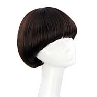 お買い得  -人工毛ウィッグ ストレート ボブスタイル・ヘアカット / バング付き 合成 8 インチ かつら 女性用 ブラック