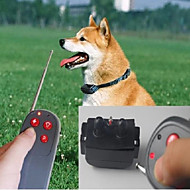 levne -Pes Bark Collar Tréninkové obojky Trénink Anti Bark Dálkový ovladač elektronika / Elektrický Jednobarevné Nylon Šedá