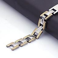 Spersonalizowanych prezent męska Biżuteria ze stali nierdzewnej grawerowane ID Bransoletki 1.1cm Szerokość