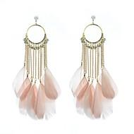 olcso Ékszerek&Karórák-Női Függők Francia kapcsos fülbevalók - Strassz, Hamis gyémánt Toll hölgyek, Luxus Kompatibilitás Esküvő Parti Napi
