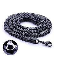 Personlig gåva-Svart-Rostfritt stål-Dekorativa Halsband- tillUnisex