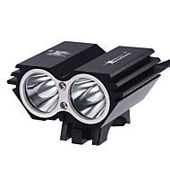 Linternas de Cabeza LED 2000 Lumens 3 Modo Cree XM-T6 L2 Sí Recargable Impermeable Super Ligero Tamaño Compacto Tamaño Pequeño para