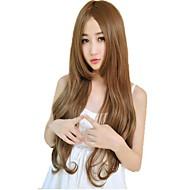 Mujer Pelucas sintéticas Ondulado Marrón/dorado Marrón Claro Morrón Oscuro Negro natural Con flequillo Pelucas para Disfraz